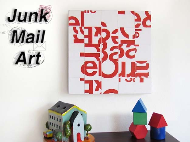 Cool DIY Room Decor Ideas in Red - Junk Mail Typography Collage Art - Creative Home Decor, Wall Art and Bedroom Crafts to Accent Your Red Room - Creative Craft Projects and Quick Arts and Crafts Ideas for Teens and Adults - Easy Ways To Decorate on A Budget http://diyprojectsforteens.com/diy-room-decor-red