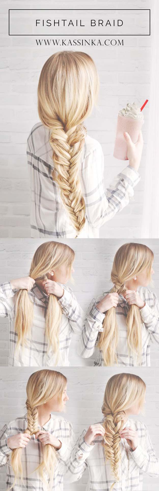 Best Hair Braiding Tutorials - Fishtail Braid 101 - Easy Step by Step Tutorials for Braids - How To Braid Fishtail, French Braids, Flower Crown, Side Braids, Cornrows, Updos - Cool Braided Hairstyles for Girls, Teens and Women - School, Day and Evening, Boho, Casual and Formal Looks #hairstyles #braiding #braidingtutorials #diyhair