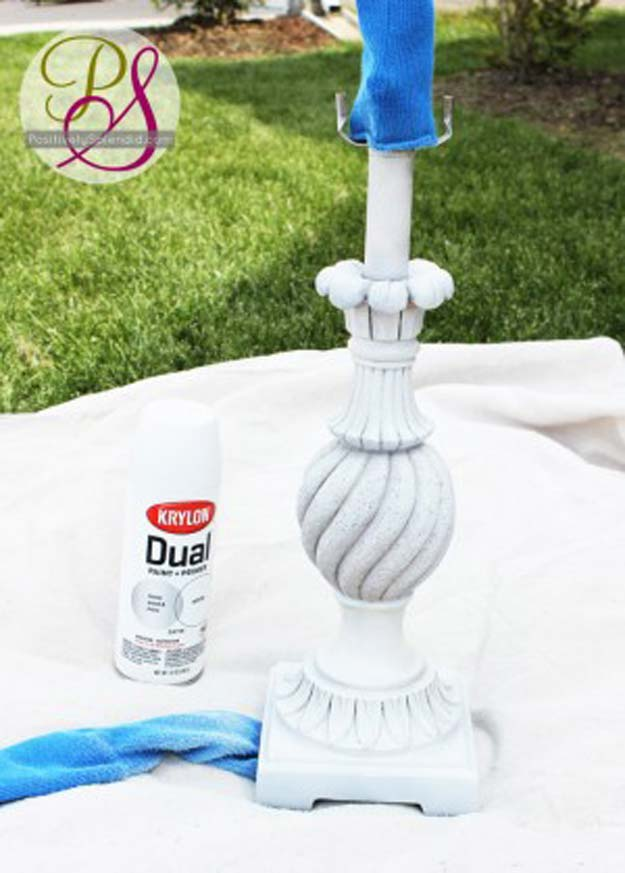 Cool Crafts Made With Old Socks - Lamp-Painting Sock Trick - Fun DIY Projects and Gifts You Can Make With A Sock - Easy DIY Ideas for Teens, Teenagers, Kids and Adults - Step by Step Tutorials and Instructions for Making Room Decor, Animals, Cat, Rabbit, Owl, Puppets, Snowman, Gloves http://diyprojectsforteens.com/diy-crafts-ideas-socks