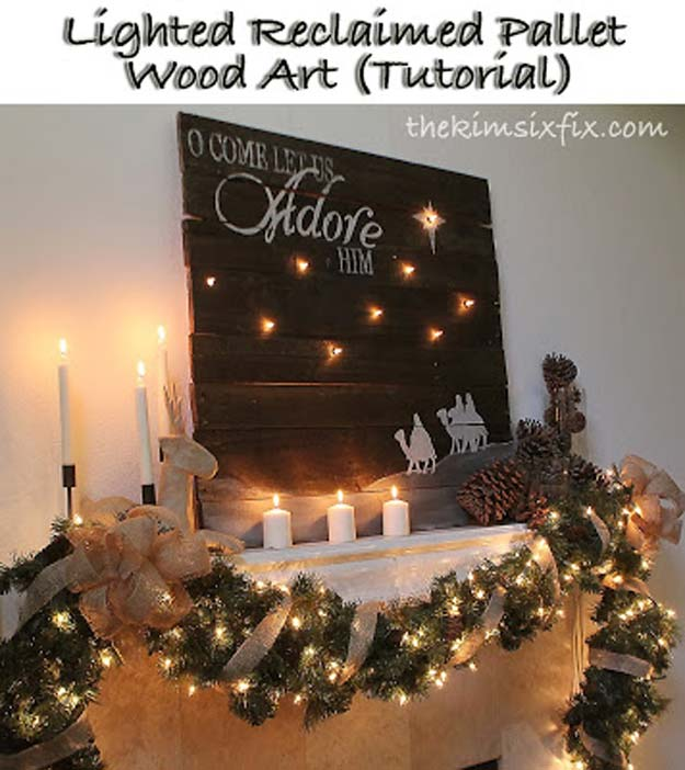 Cool Ways To Use Christmas Lights - Lighted Reclaimed Lumber Christmas Sign - Best Easy DIY Ideas for String Lights for Room Decoration, Home Decor and Creative DIY Bedroom Lighting - Creative Christmas Light Tutorials with Step by Step Instructions - Creative Crafts and DIY Projects for Teens, Teenagers and Adults http://diyprojectsforteens.com/diy-projects-string-lights