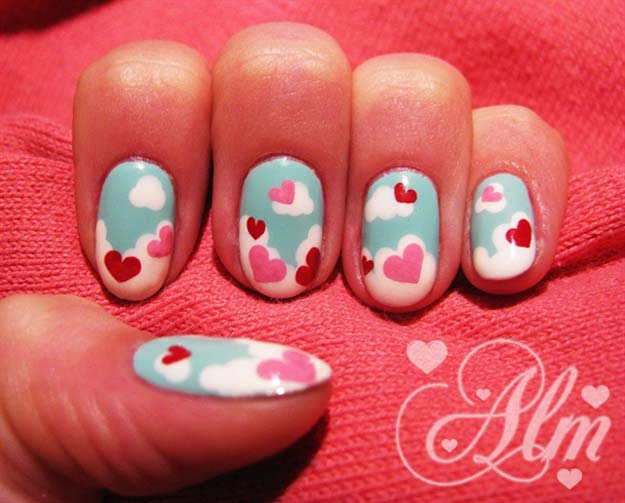 Valentine Nail Art Ideas - Love is in the Air - Cute and Cool Looks For Valentines Day Nails - Hearts, Gradients, Red, Black and Pink Designs - Easy Ideas for DIY Manicures with Step by Step Tutorials - Fun Ideas for Teens, Teenagers and Women http://diyprojectsforteens.com/valentine-nail-art-ideas