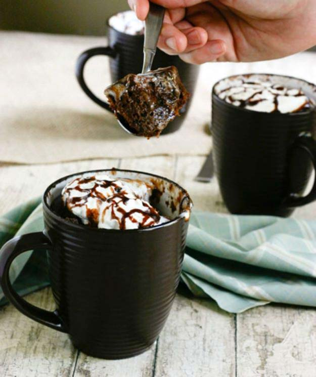 Easy Mug Cake Recipes - Mug Cake Nutella - Best Microwave Cakes and Ideas for Baking Ckae in The Microwave - Chocolate, Vanilla, Healthy, Snickerdoodle, Peanut Butter, Bownie and Nutella - Step by Step Tutorials and Instructions - Besy DIY Projects and Recipes for Teens and Teenagers -