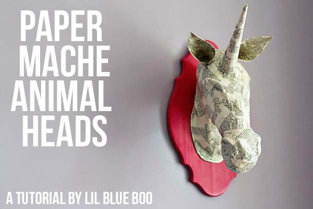 Cool DIY Room Decor Ideas in Red - Paper Mache Animal Head - Creative Home Decor, Wall Art and Bedroom Crafts to Accent Your Red Room - Creative Craft Projects and Quick Arts and Crafts Ideas for Teens and Adults - Easy Ways To Decorate on A Budget http://diyprojectsforteens.com/diy-room-decor-red
