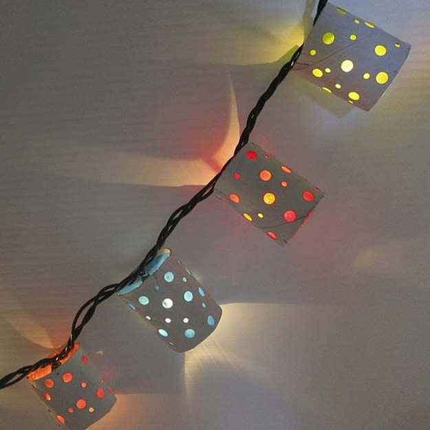 Cool Ways To Use Christmas Lights - Polka Dot Paper Lanterns - Best Easy DIY Ideas for String Lights for Room Decoration, Home Decor and Creative DIY Bedroom Lighting - Creative Christmas Light Tutorials with Step by Step Instructions - Creative Crafts and DIY Projects for Teens, Teenagers and Adults http://diyprojectsforteens.com/diy-projects-string-lights