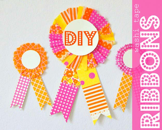 Washi Tape Crafts - Celebrate The Little Things – DIY Washi Tape Ribbons - DIY Projects Made With Washi Tape - Wall Art, Frames, Cards, Pencils, Room Decor and DIY Gifts, Back To School Supplies - Creative, Fun Craft Ideas for Teens, Tweens and Teenagers - Step by Step Tutorials and Instructions http://diyprojectsforteens.com/washi-tape-ideas