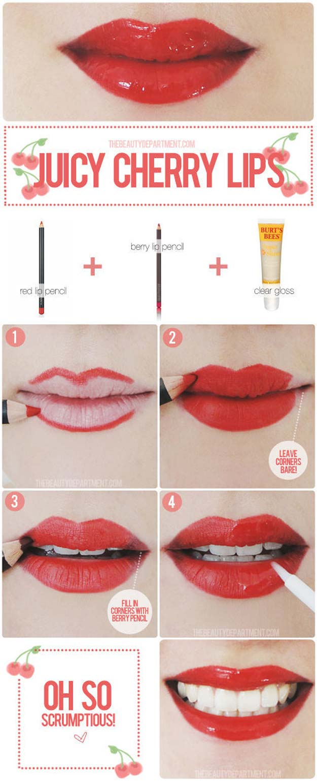 Lipstick Tutorials - Best Step by Step Makeup Tutorial How To - Red Lips Remastered - Easy and Quick Ways to Apply Lipstick and Awesome Beauty Ideas - Cool Ideas for Teen Makeup for School, Party and Special Occasion - Makeup Tutorials for Beginners - Lip Liner Tips and Tricks to Add Volume, DIY Lip Techniques for Fuller Lips - DIY Projects and Crafts for Teens