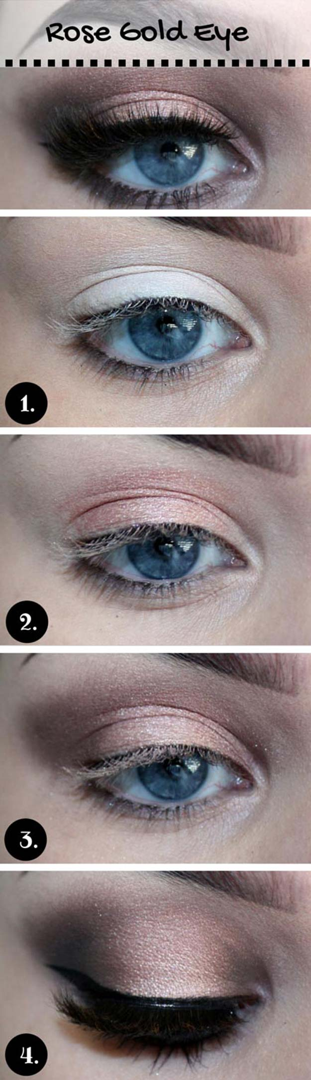 Best Eyeshadow Tutorials - Rosegold Makeup Look - Easy Step by Step How To For Eye Shadow - Cool Makeup Tricks and Eye Makeup Tutorial With Instructions - Quick Ways to Do Smoky Eye, Natural Makeup, Looks for Day and Evening, Brown and Blue Eyes - Cool Ideas for Beginners and Teens http://diyprojectsforteens.com/best-eyeshadow-tutorials