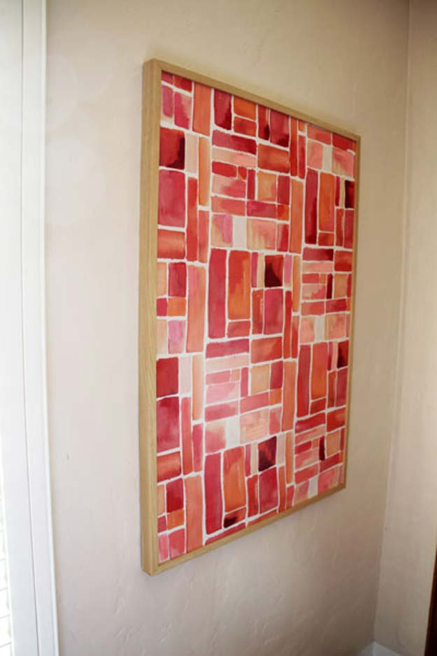 Wall Art On Cloth : Brilliant red diy room decor ideas projects for teens