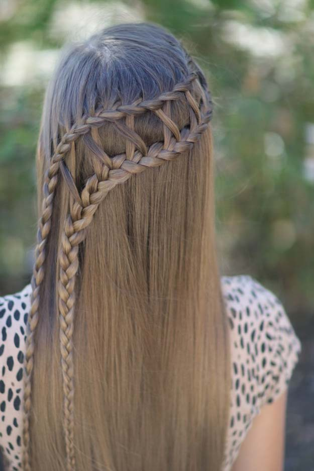 Best Hair Braiding Tutorials - Lattice Braid Combo - Easy Step by Step Tutorials for Braids - How To Braid Fishtail, French Braids, Flower Crown, Side Braids, Cornrows, Updos - Cool Braided Hairstyles for Girls, Teens and Women - School, Day and Evening, Boho, Casual and Formal Looks #hairstyles #braiding #braidingtutorials #diyhair