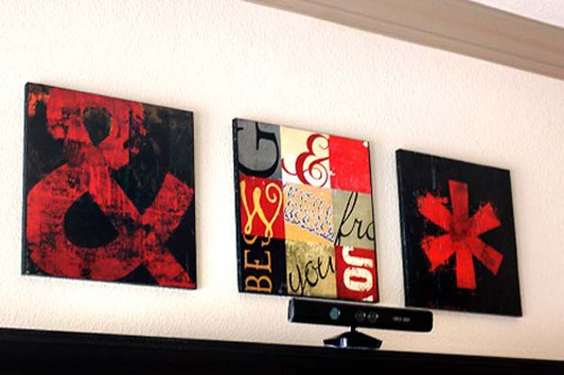 Cool DIY Room Decor Ideas in Red - Three Free Printables and DIY Upcycled Shelving Art Tutorial - Creative Home Decor, Wall Art and Bedroom Crafts to Accent Your Red Room - Creative Craft Projects and Quick Arts and Crafts Ideas for Teens and Adults - Easy Ways To Decorate on A Budget http://diyprojectsforteens.com/diy-room-decor-red