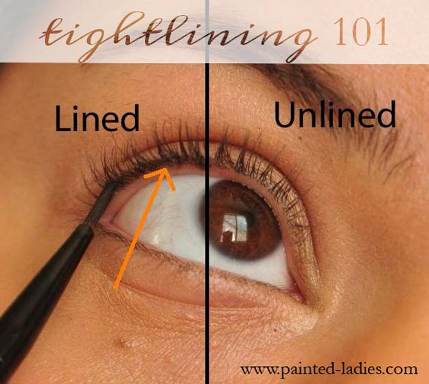 Best Beauty Hacks - Eyeliner Week: Tightlining - Easy Makeup Tutorials and Makeup Ideas for Teens, Beginners, Women, Teenagers - Cool Tips and Tricks for Mascara, Lipstick, Foundation, Hair, Blush, Eyeshadow, Eyebrows and Eyes - Step by Step Tutorials and How To #beautyhacks #beautyideas #makeuptutorial #makeuphakcs #makeup #hair #teens