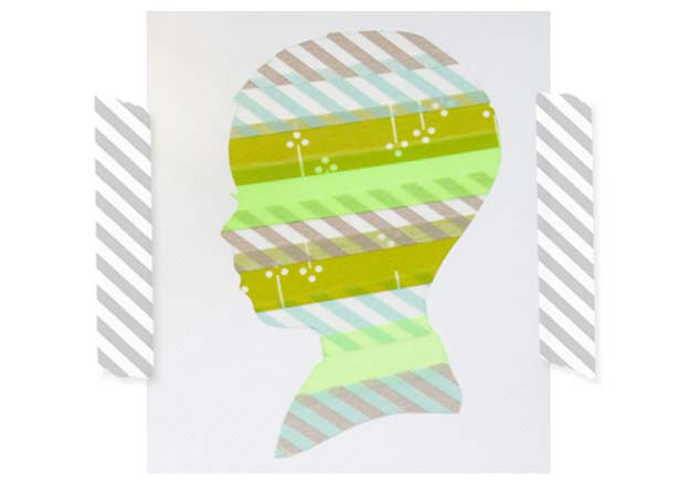 Washi Tape Crafts - Washi Tape Silhouette - DIY Projects Made With Washi Tape - Wall Art, Frames, Cards, Pencils, Room Decor and DIY Gifts, Back To School Supplies - Creative, Fun Craft Ideas for Teens, Tweens and Teenagers - Step by Step Tutorials and Instructions http://diyprojectsforteens.com/washi-tape-ideas