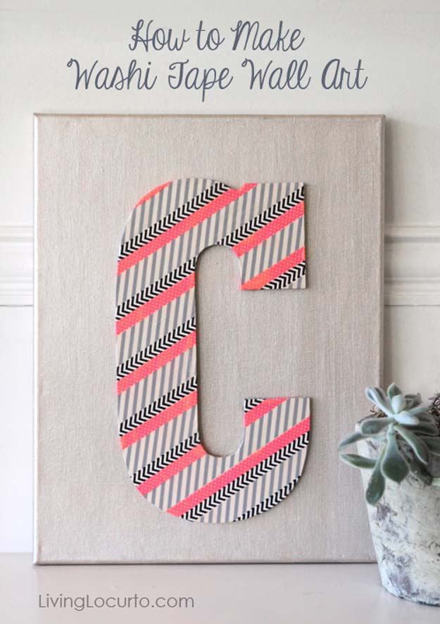 Washi Tape Crafts - Washi Tape Wall Art - DIY Projects Made With Washi Tape - Wall Art, Frames, Cards, Pencils, Room Decor and DIY Gifts, Back To School Supplies - Creative, Fun Craft Ideas for Teens, Tweens and Teenagers - Step by Step Tutorials and Instructions http://diyprojectsforteens.com/washi-tape-ideas