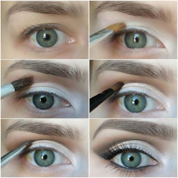 Best Eyeshadow Tutorials - White Eyeshadow - Easy Step by Step How To For Eye Shadow - Cool Makeup Tricks and Eye Makeup Tutorial With Instructions - Quick Ways to Do Smoky Eye, Natural Makeup, Looks for Day and Evening, Brown and Blue Eyes - Cool Ideas for Beginners and Teens http://diyprojectsforteens.com/best-eyeshadow-tutorials