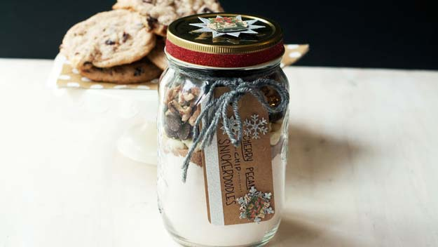 Best Mason Jar Cookies - Cherry-Pecan-Chip Snickerdoodle Cookies - Mason Jar Cookie Recipe Mix for Cute Decorated DIY Gifts - Easy Chocolate Chip Recipes, Christmas Presents and Wedding Favors in Mason Jars - Fun Ideas for DIY Parties, Easy Recipes for Teens, Teenagers, Kids and Teens - Cheap Last Mintue Gift Ideas for Friends, Family and Neighbors http://diyprojectsforteens.com/mason-jar-cookie-recipes