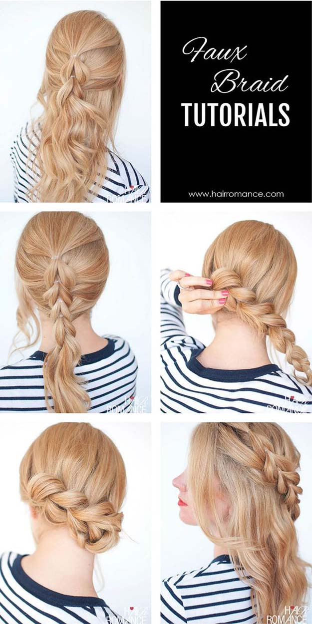 Best Hair Braiding Tutorials - The no-braid braid – 5 pull-through braid tutorials - Easy Step by Step Tutorials for Braids - How To Braid Fishtail, French Braids, Flower Crown, Side Braids, Cornrows, Updos - Cool Braided Hairstyles for Girls, Teens and Women - School, Day and Evening, Boho, Casual and Formal Looks #hairstyles #braiding #braidingtutorials #diyhair