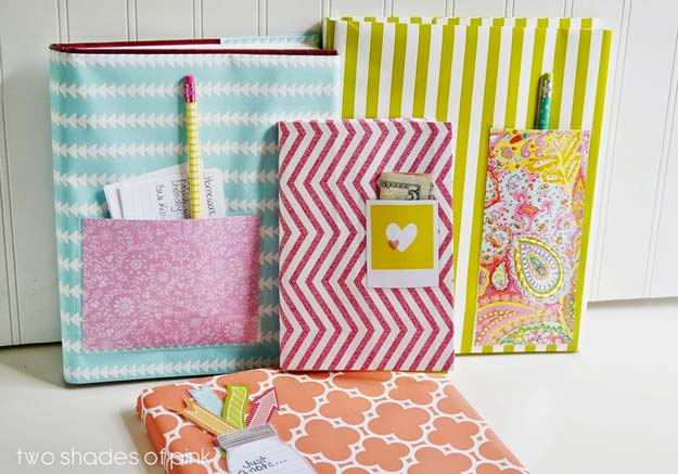 How To Make A Book Cover At Home : Awesome crafts to make with leftover wrapping paper