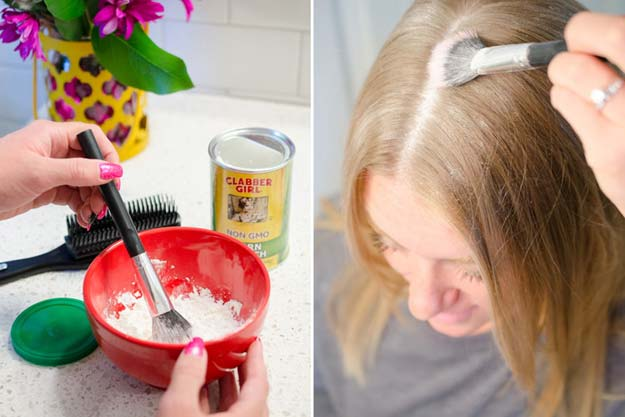 Best Beauty Hacks - Tame Hair with Cornstarch - Easy Makeup Tutorials and Makeup Ideas for Teens, Beginners, Women, Teenagers - Cool Tips and Tricks for Mascara, Lipstick, Foundation, Hair, Blush, Eyeshadow, Eyebrows and Eyes - Step by Step Tutorials and How To http://diyprojectsforteens.com/best-beauty-hacks
