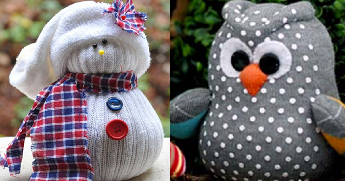 Cool Crafts and DIY Ideas Made From Old Socks
