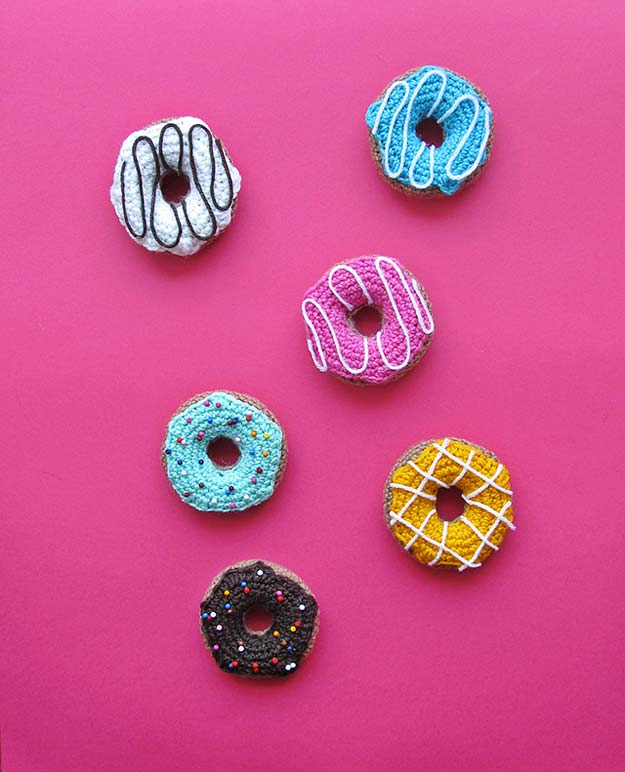 Crochet Patterns and Projects for Teens - Donuts - Best Free Patterns and Tutorials for Crocheting Cute DIY Gifts, Room Decor and Accessories - How To for Beginners - Learn How To Make a Headband, Scarf, Hat, Animals and Clothes DIY Projects and Crafts for Teenagers http://diyprojectsforteens.com/crochet-patterns-free