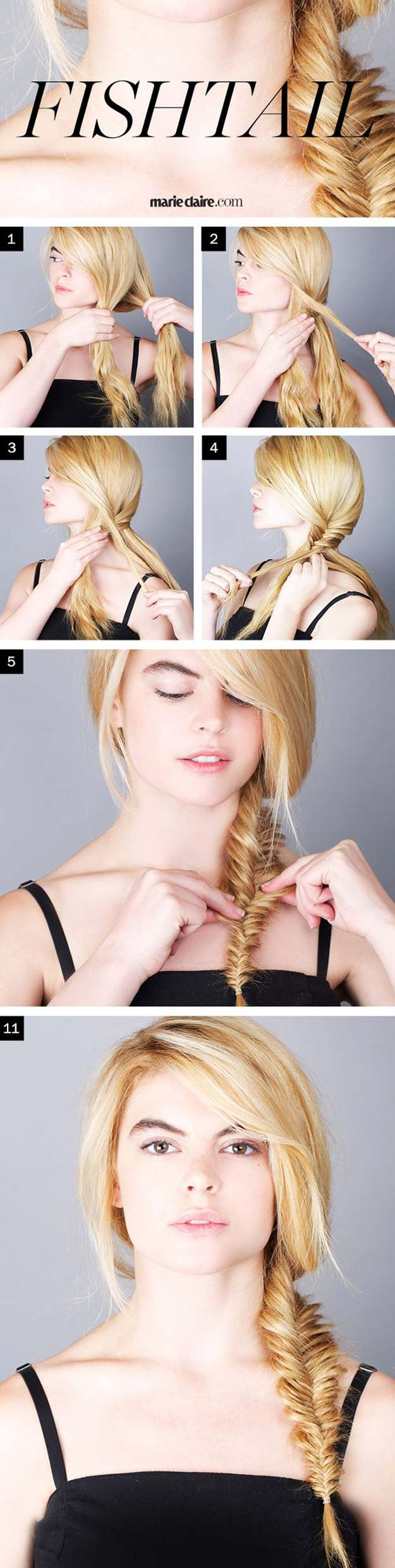 Best Hair Braiding Tutorials - The Perfect Fishtail Braid - Easy Step by Step Tutorials for Braids - How To Braid Fishtail, French Braids, Flower Crown, Side Braids, Cornrows, Updos - Cool Braided Hairstyles for Girls, Teens and Women - School, Day and Evening, Boho, Casual and Formal Looks #hairstyles #braiding #braidingtutorials #diyhair