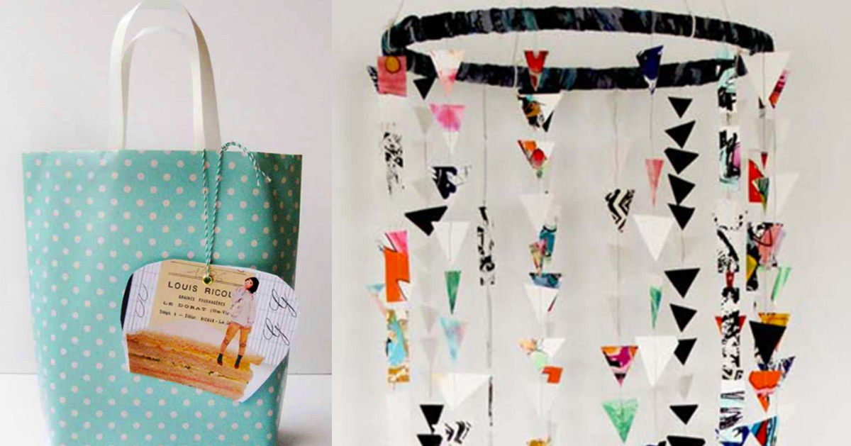 Leftover Wrapping Paper Crafts