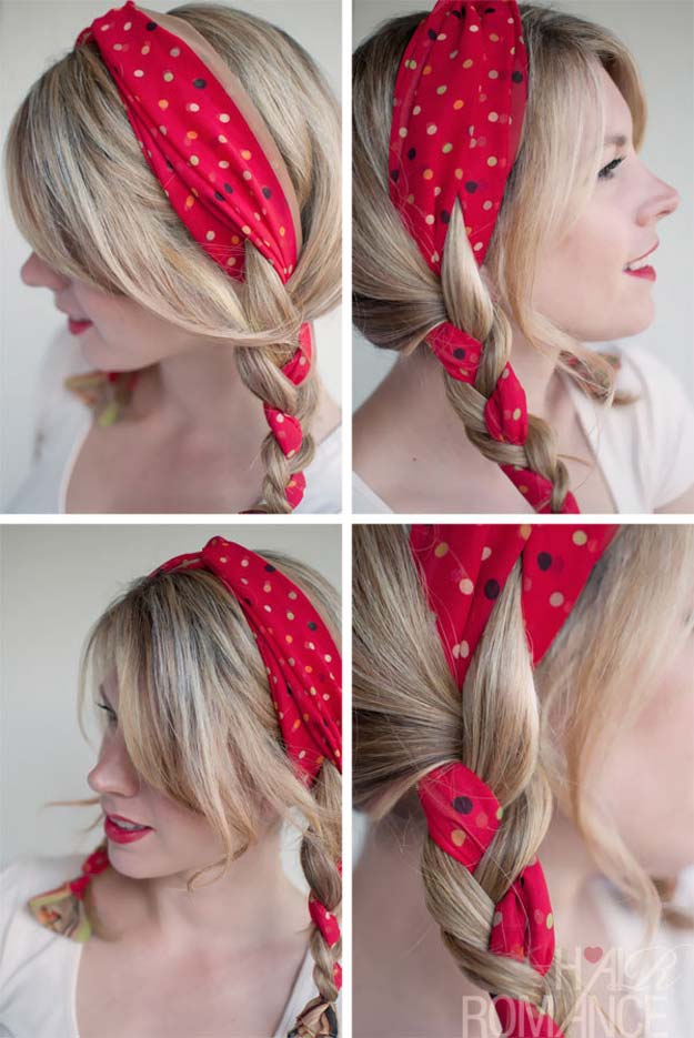 Best Hair Braiding Tutorials - The Polka Dot Pigtials - Easy Step by Step Tutorials for Braids - How To Braid Fishtail, French Braids, Flower Crown, Side Braids, Cornrows, Updos - Cool Braided Hairstyles for Girls, Teens and Women - School, Day and Evening, Boho, Casual and Formal Looks #hairstyles #braiding #braidingtutorials #diyhair