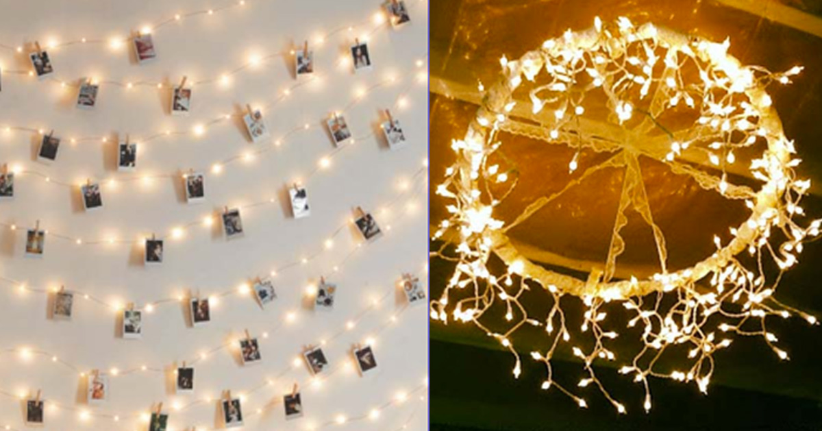 DIY Ideas With String Lights - Christmas Lights Crafts, Lighting and Room Decor Ideas