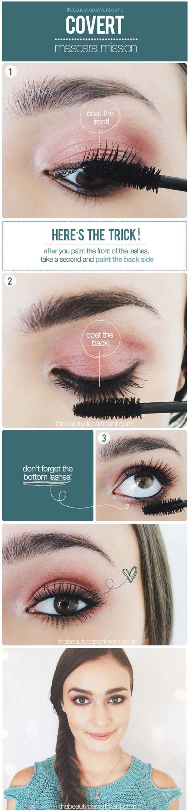 Best Makeup Tutorials for Teens -Thick Lashes - Easy Makeup Ideas for Beginners - Step by Step Tutorials for Foundation, Eye Shadow, Lipstick, Cheeks, Contour, Eyebrows and Eyes - Awesome Makeup Hacks and Tips for Simple DIY Beauty - Day and Evening Looks http://diyprojectsforteens.com/makeup-tutorials-teens