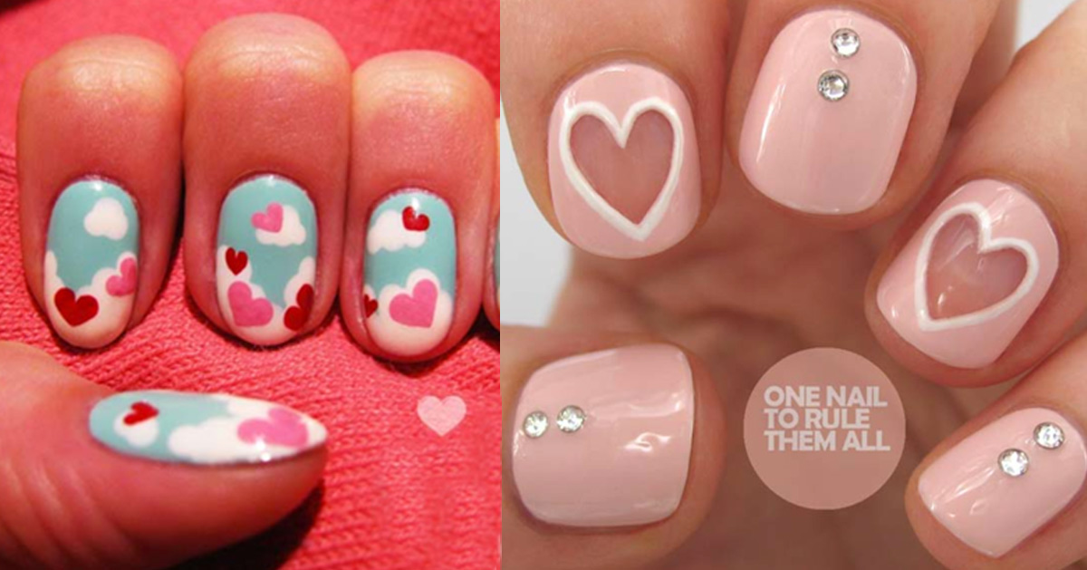 35 Fabulous Valentine Nail Art Ideas - 35 Fabulous Valentine Nail Art Ideas - DIY Projects For Teens