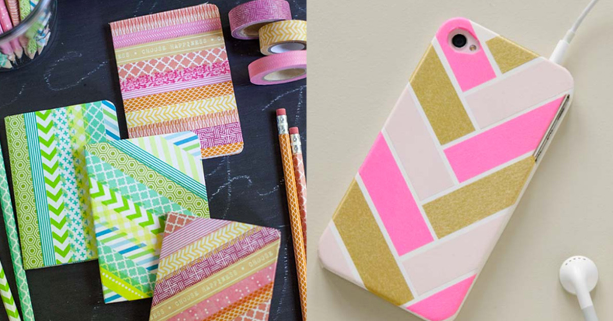 Cool Washi Tape Ideas - Crafts and DIY Projects Made With Washi Tape