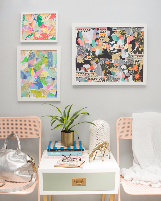 wrapping-paper-frames - DIY Projects for Teens