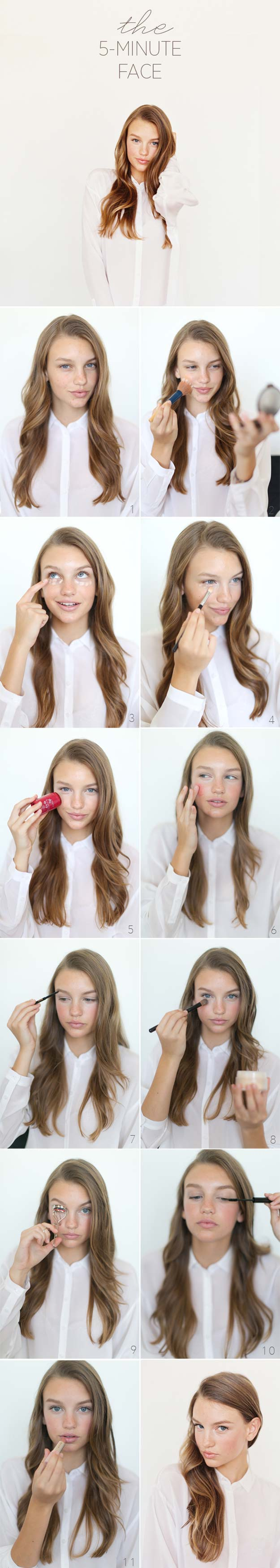 Best Makeup Tutorials for Teens -The 5 Minute Face Beauty Tutorial - Easy Makeup Ideas for Beginners - Step by Step Tutorials for Foundation, Eye Shadow, Lipstick, Cheeks, Contour, Eyebrows and Eyes - Awesome Makeup Hacks and Tips for Simple DIY Beauty - Day and Evening Looks http://diyprojectsforteens.com/makeup-tutorials-teens
