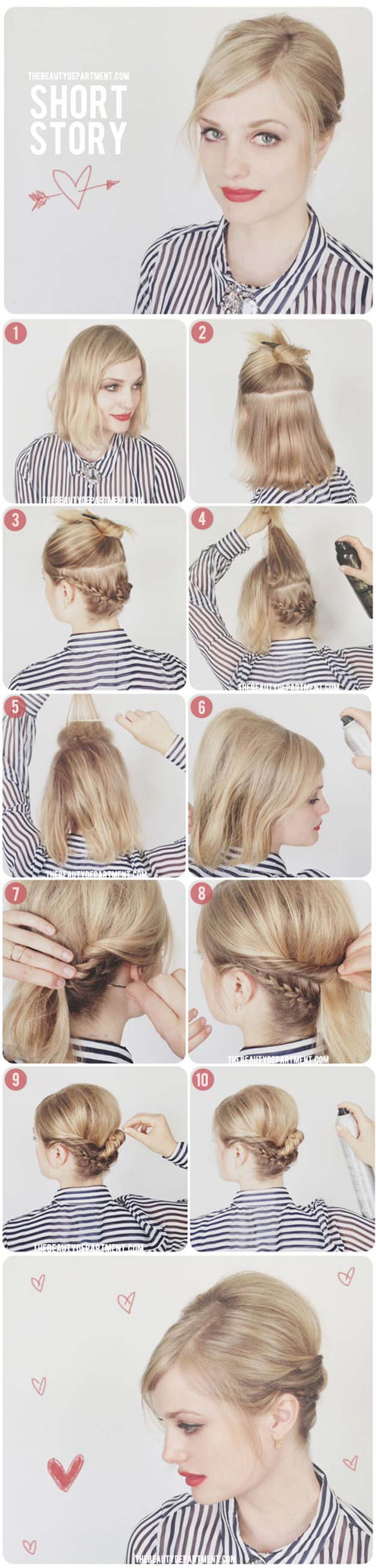 Creative DIY Hair Tutorials - The Under Braider - Color, Rainbow, Galaxy and Unique Styles for Long, Short and Medium Hair - Braids, Dyes, Instructions for Teens and Women #hairstyles #hairideas #beauty #teens #easyhairstyles