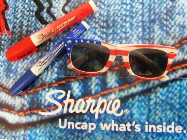 DIY Sunglasses Makeovers - Flag Frames - Fun Ways to Decorate and Embellish Sunglasses - Embroider, Paint, Add Jewels and Glitter to Your Shades - Cheap and Easy Projects and Crafts for Teens #diy #teencrafts #sunglasses