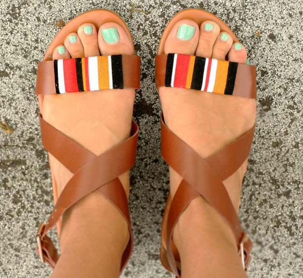 DIY Sandals and Flip Flops - Tribal Wrap Sandals - Creative, Cool and Easy Ways to Make or Update Your Shoes - Decorate Flip Flops with Cheap Dollar Store Crafts and Ideas - Beaded, Leather, Strappy and Painted Sandal Projects - Fun DIY Projects and Crafts for Teens and Teenagers