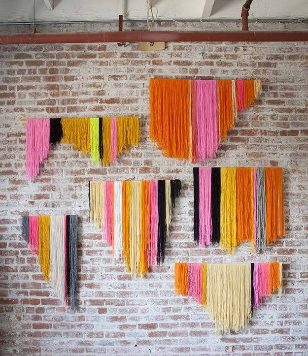 DIY Selfie Ideas - Yarn Banner DIY - Cool Ideas for Photo Booth and Picture Station - Props, Light, Mirror, Board, Wall, Background and Tips for Shooting Best Selfies - DIY Projects and Crafts for Teens