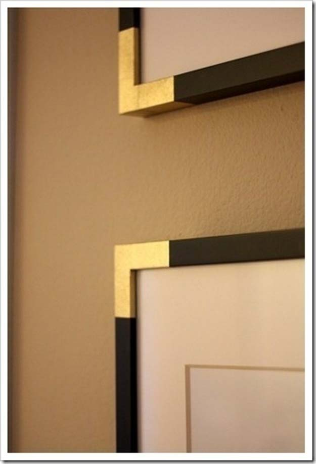 Gold DIY Projects and Crafts - Brass Frame: HB Knock Off - Easy Room Decor, Wall Art and Accesories in Gold - Spray Paint, Painted Ideas, Creative and Cheap Home Decor - Projects and Crafts for Teens, Apartments, Adults and Teenagers