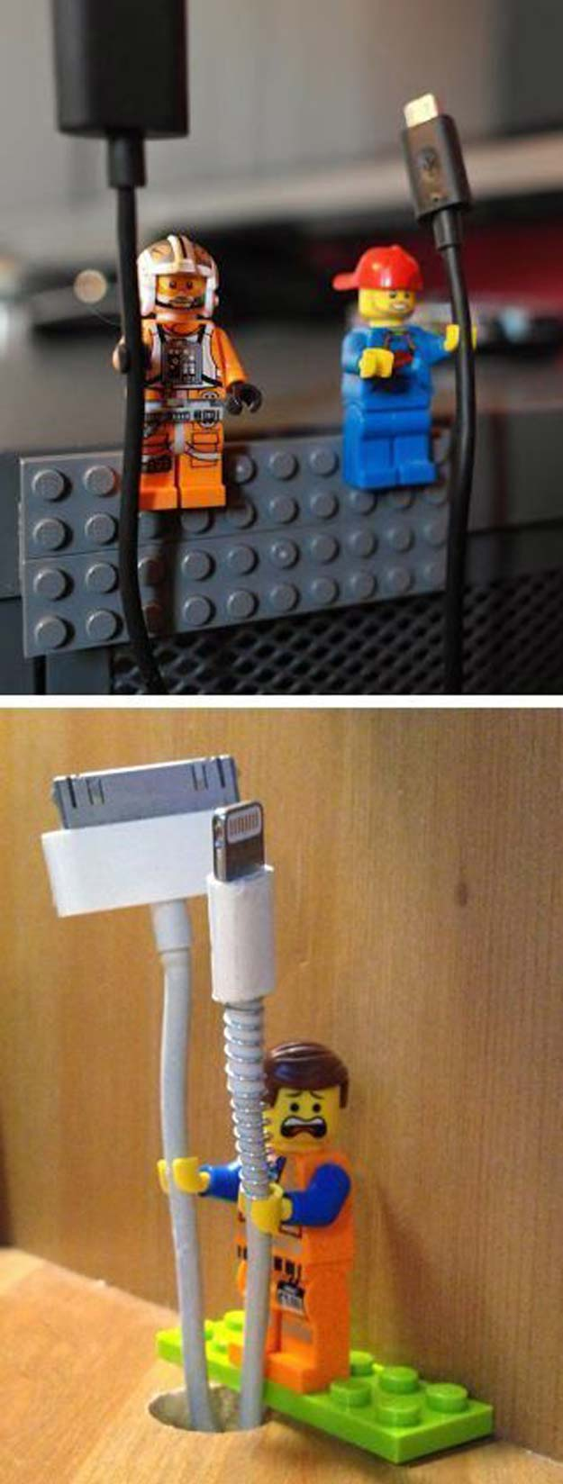 Fun DIY Ideas for Your Desk - DIY Lego Man Cord Holder - Cubicles, Ideas for Teens and Student - Cheap Dollar Tree Storage and Decor for Offices and Home - Cool DIY Projects and Crafts for Teens
