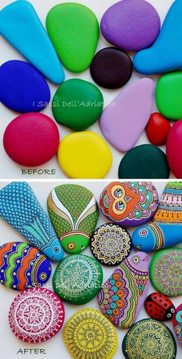 Sharpie Crafts For Teens, Kids and Adults - Creative Handpainted Rocks Make a fun Gift for teenagers to give or recieve. Boys and Girls love them - DIY Projects and Ideas with Sharpies Using Markers on Fabric, Glass, Mugs, T- Shirts, Plates, Paper - Creative Arts and Crafts Ideas for Room Decor, Gifts and Fun Fashion
