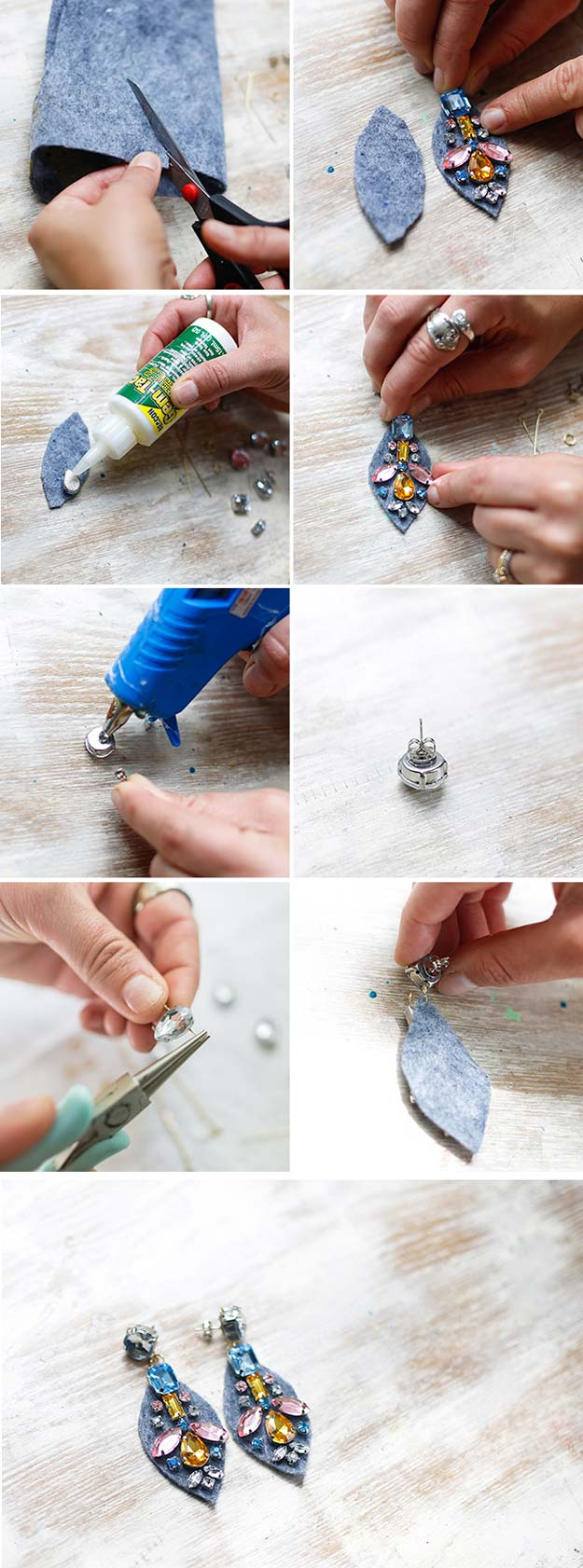 Crafts to Make and Sell - J. Crew Jewel Earings - Easy Step by Step Tutorials for Fun, Cool and Creative Ways for Teenagers to Make Money Selling Stuff - Room Decor, Accessories, Gifts and More http://diyprojectsforteens.com/diy-crafts-to-make-and-sell