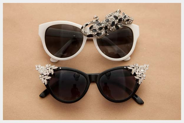 DIY Sunglasses Makeovers - DIY Rhinestone Sunnies - Fun Ways to Decorate and Embellish Sunglasses - Embroider, Paint, Add Jewels and Glitter to Your Shades - Cheap and Easy Projects and Crafts for Teens http://diyprojectsforteens.com/diy-sunglasses-makeovers