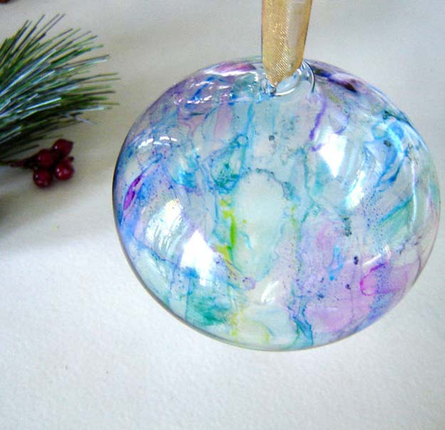Sharpie Crafts For Teens, Kids and Adults -Glass ornaments made with Sharpies for Christmas tree decor and holiday fun. Boys and Girls love them - DIY Projects and Ideas with Sharpies Using Markers on Fabric, Glass, Mugs, T- Shirts, Plates, Paper - Creative Arts and Crafts Ideas for Room Decor, Gifts and Fun Fashion