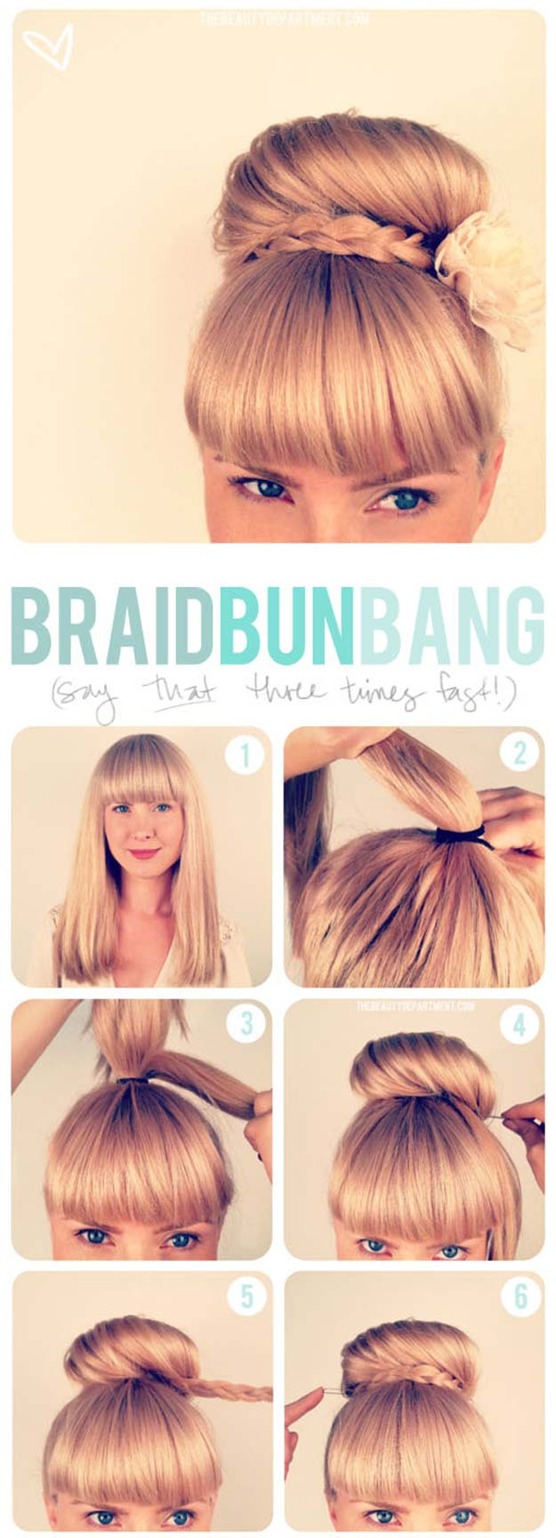 Creative DIY Hair Tutorials - Updo + Bangs - Color, Rainbow, Galaxy and Unique Styles for Long, Short and Medium Hair - Braids, Dyes, Instructions for Teens and Women #hairstyles #hairideas #beauty #teens #easyhairstyles