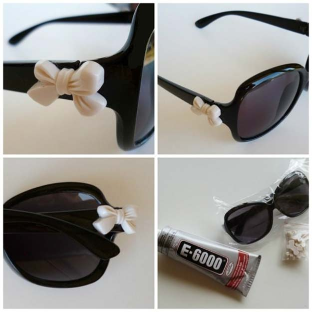 DIY Sunglasses Makeovers - Quick and Easy Restyle of Old Sunglasses - Fun Ways to Decorate and Embellish Sunglasses - Embroider, Paint, Add Jewels and Glitter to Your Shades - Cheap and Easy Projects and Crafts for Teens http://diyprojectsforteens.com/diy-sunglasses-makeovers