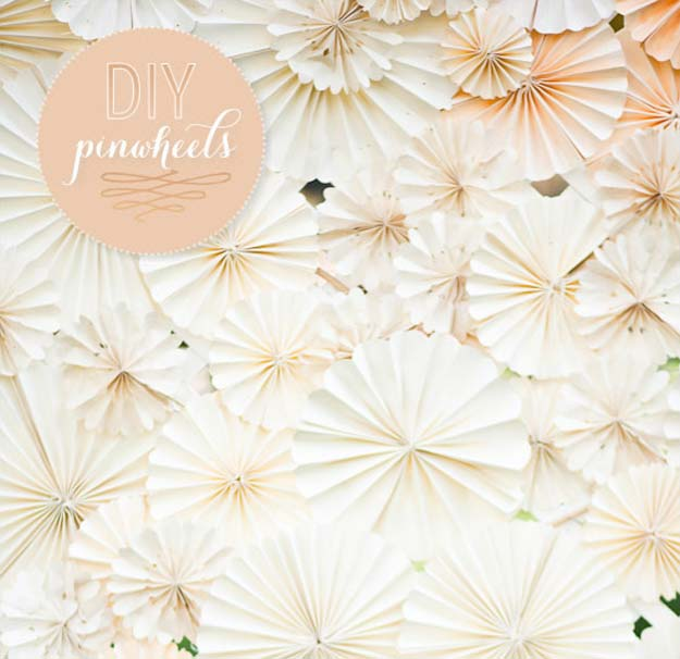 DIY Selfie Ideas - Ombre Pinwheels - Cool Ideas for Photo Booth and Picture Station - Props, Light, Mirror, Board, Wall, Background and Tips for Shooting Best Selfies - DIY Projects and Crafts for Teens