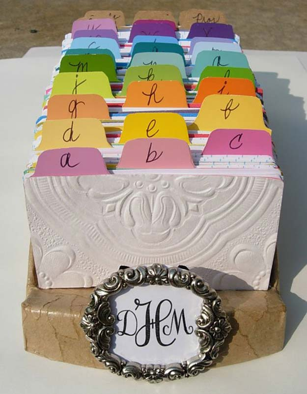 DIY Projects Made With Paint Chips - Paint Chip Rolodex - Best Creative Crafts, Easy DYI Projects You Can Make With Paint Chips - Cool and Crafty How To and Project Tutorials - Crafty DIY Home Decor Ideas That Make Awesome DIY Gifts and Christmas Presents for Friends and Family