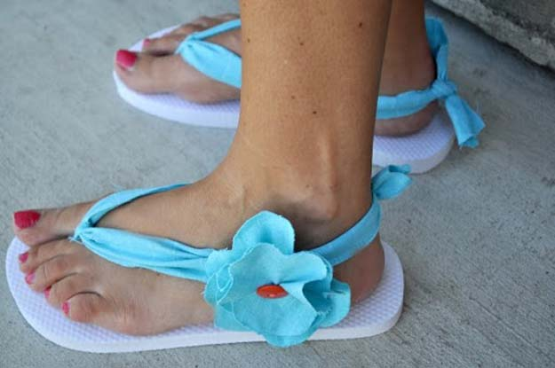 DIY Sandals and Flip Flops - Key West Flip Flops & Rock The Flop Linky - Creative, Cool and Easy Ways to Make or Update Your Shoes - Decorate Flip Flops with Cheap Dollar Store Crafts and Ideas - Beaded, Leather, Strappy and Painted Sandal Projects - Fun DIY Projects and Crafts for Teens and Teenagers