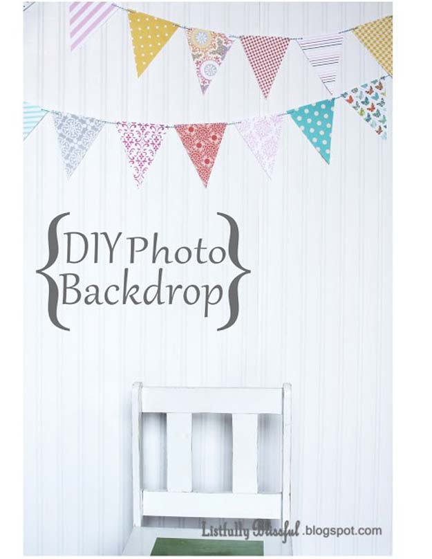 DIY Selfie Ideas - DIY Cardboard Photo Backdrop - Cool Ideas for Photo Booth and Picture Station - Props, Light, Mirror, Board, Wall, Background and Tips for Shooting Best Selfies - DIY Projects and Crafts for Teens
