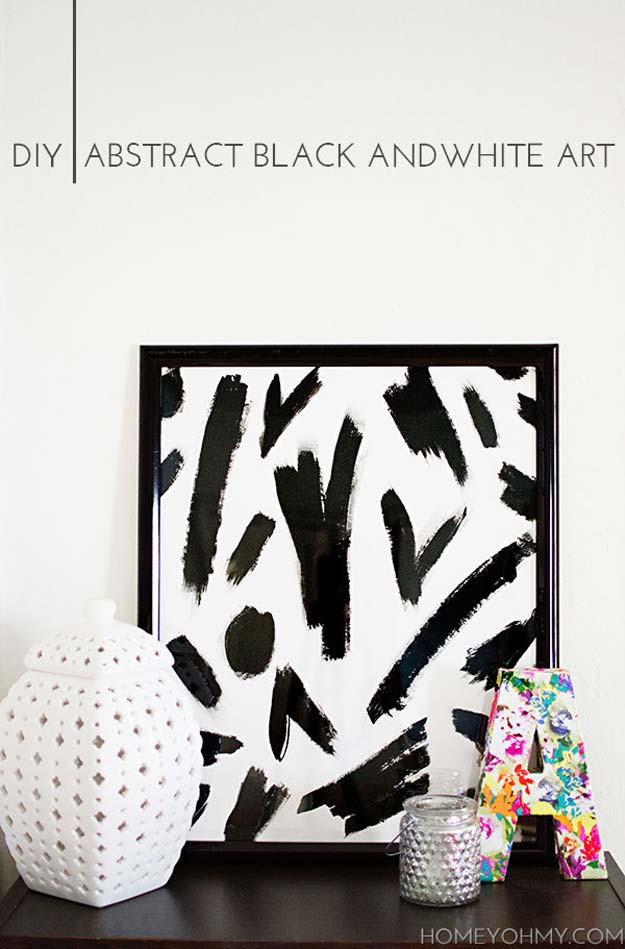 Diy Room Decor Ideas In Black And White Abstract Art Creative
